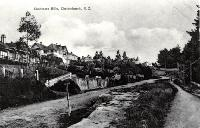Houses on Dyers Pass Road at the junction with Cracroft Terrace, Cashmere, Christchurch, ca 1905