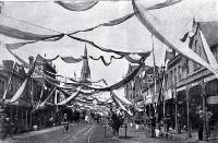 Street decorations for the Canterbury jubilee celebrations in December 1900 shown here in Colombo Street north [1900]