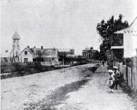 Oxford Terrace looking north from Hereford Street, Christchurch, ca 1870
