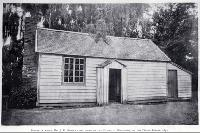 House in which John Robert Godley first lived in Canterbury, on the Deans estate in Riccarton in 1852