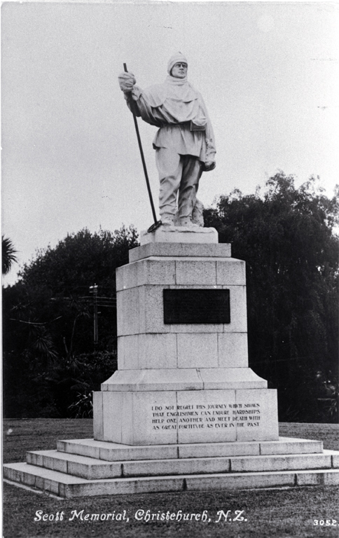 Robert Falcon Scott memorial, Scott Reserve, corner of Worcester Boulevard and Oxford Terrace, Christchurch, 1917