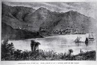 Lyttelton from Purau, 1852