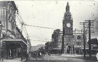 Clock tower, High Street, Christchurch - 1913