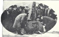 Laying the foundation stone of the Christchurch Municipal Tepid Baths by the Mayor, George Payling - 1907