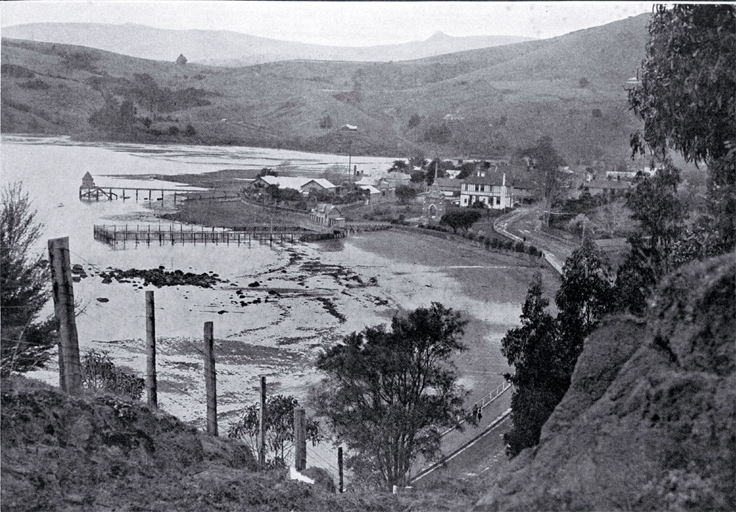 A view of the north end of Akaroa from Stanley Park