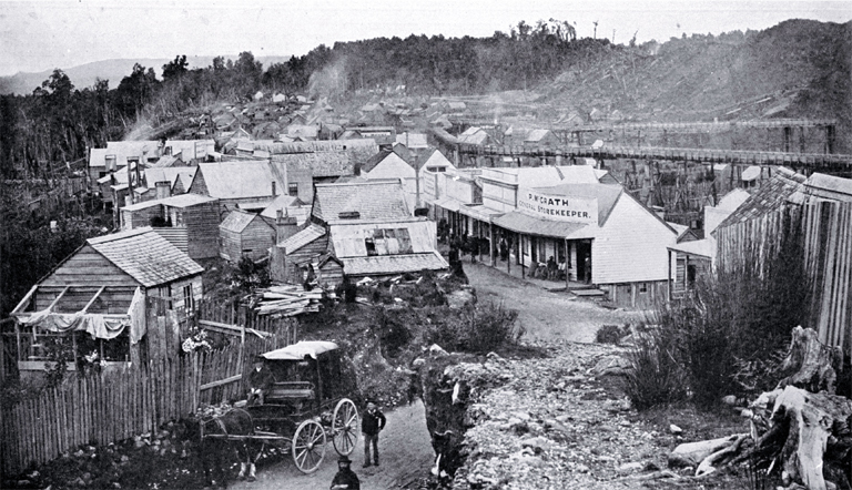 Dillmanstown and gold diggings at the height of prosperity, West Coast