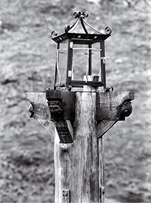 Lamp stand by the toll gate, Port Hills, Christchurch