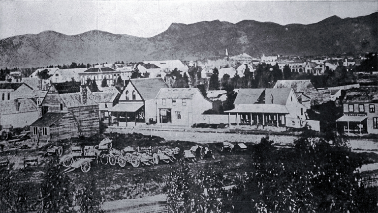 Christchurch shown nineteen years after its foundation 1869