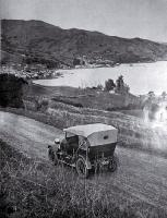 Picturesque Akaroa on Banks Peninsula is a favourite resort of motorists and holidaymakers in Canterbury [1925]