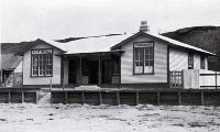 The combined courthouse and post office built in 1916 at Waitangi, Chatham Islands [ca. 1916]