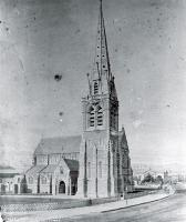 The completed nave and spire of the Christchurch Cathedral - 1882