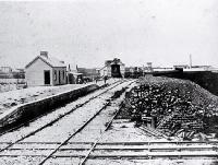 The first Christchurch railway station