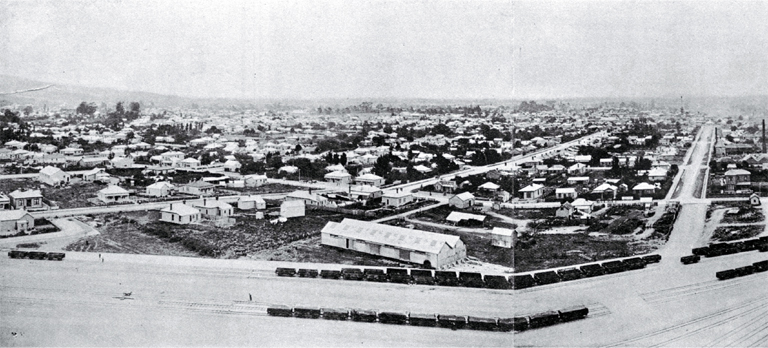 View of Christchurch from power house of the Christchurch Tramway Company looking to the west