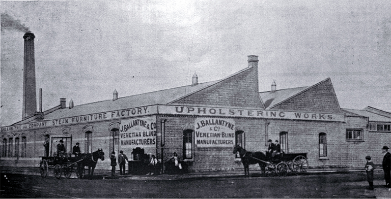 Messrs. J. Ballantyne and Company's furniture factory, Tuam Street, Christchurch