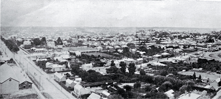 View of Christchurch from power house of the Christchurch Tramway Company looking to the east