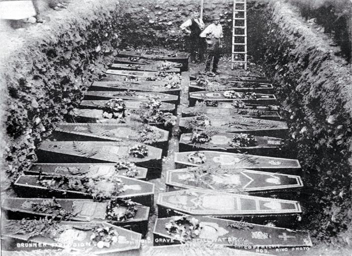The grave at Stillwater Cemetery, Brunner mining disaster [1896]