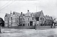 Photograph of Christchurch Girls' High School, showing the new extension on the left [1913]