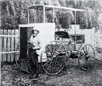 Dr Alfred Charles Barker with his trap. ca. 1900