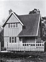 Photo of State cottage for workers, New Zealand International Exhibition, Hagley Park, Christchurch, 1906