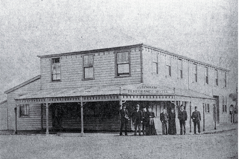 Mrs Merritt's boarding house at the corner of Hazeldean Road and Harper Street, Christchurch