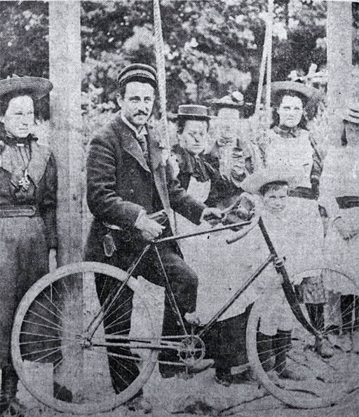 Traffic Officer Herbert MacIntosh prepares to mount his bicycle
