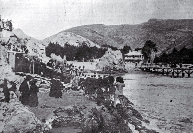 The launching ceremony of the new lifeboat, Rescue, at Sumner