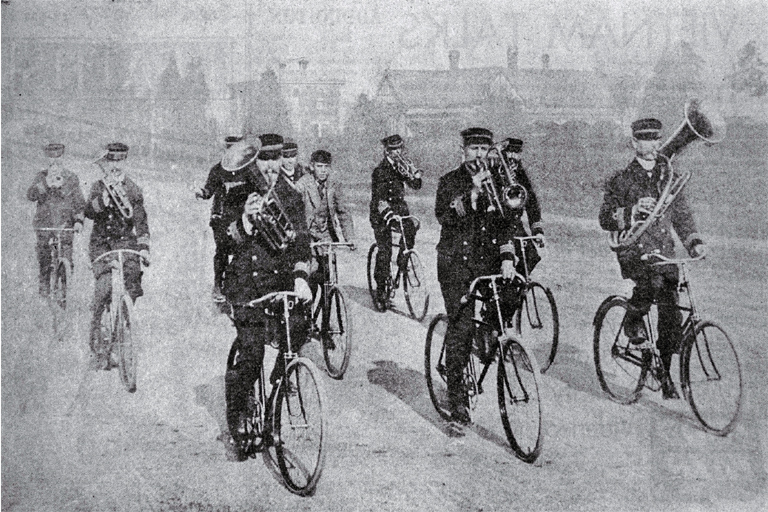Community Peion | The Bicycle Band Ca 1900 Christchurch City Libraries Heritage