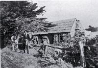 The old sod whare on the Sumner Road near the Heathcote Bridge, Christchurch