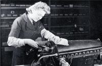 During the war, girls were engaged on a wide range of jobs