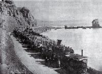 Steam trams on the way to Sumner - 1892