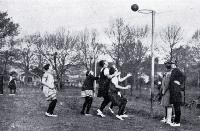 A shot at goal during a game featured at the Christchurch basketball tournament in South Hagley Park 