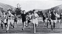 Christchurch harriers out for a run on Sumner beach [1927]