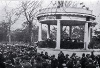 The opening of the Bandsmens Memorial rotunda, Botanic Gardens, Christchurch [1926]