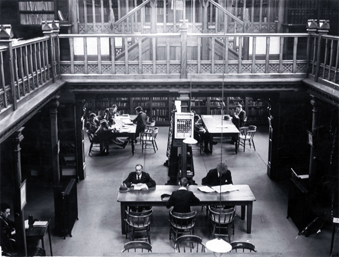 The ground floor Reference Library, Canterbury Public Library, 109 Cambridge Terrace, Christchurch, 193?