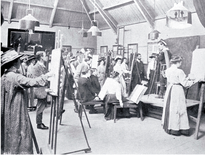 Life classes at the Christchurch School of Art