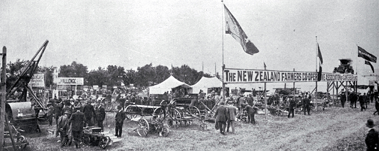 The comprehensive display of the New Zealand Farmers' Co-operative Association at the Canterbury Metropolitan Show