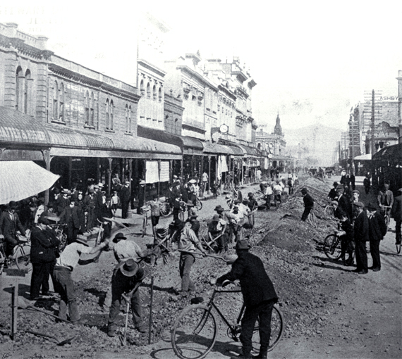 Construction of the electrical tramways in Christchurch