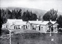 Shearers' accommodation on a Canterbury station [1909]