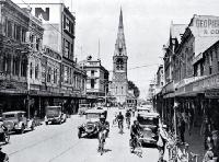 Colombo Street, Christchurch, looking south towards the Cathedral [ca. 1930]