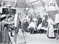 Life classes at the Christchurch School of Art. 1910.