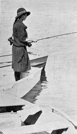 Girl with fishing rod