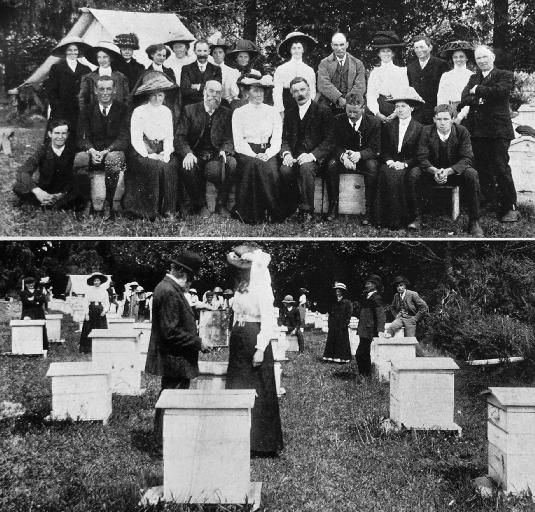 Photo of the Canterbury Bee-keepers' Association, 1912