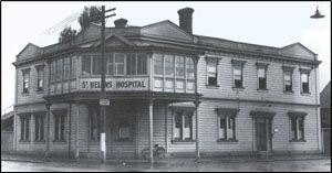 St Helen's Hospital in 1937. Photograph from Lost Christchurch