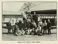 Group of pupils and staff - photo taken from CNZAC booklet