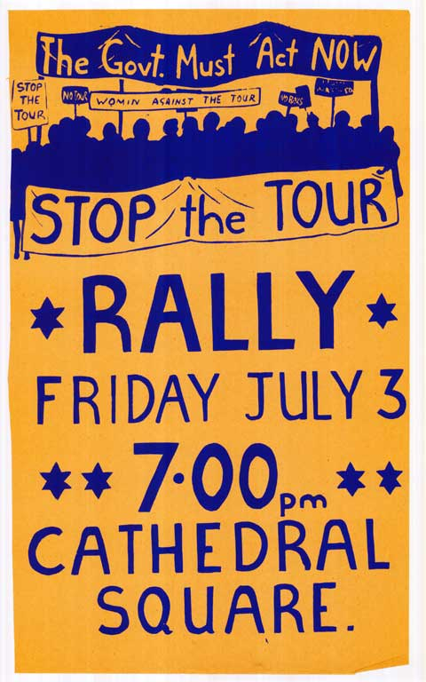 The Govt. Must Act Now. Stop the Tour. Rally Friday July 3rd.
