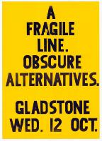 A fragile line. Obscure alternatives.