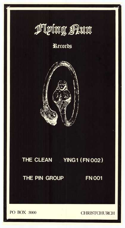 Flying Nun Records: The Clean, Ying1 (FN002), The Pin Group. FN 001