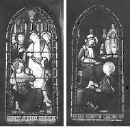 Stained glass windows to the memory of Maria Thomson