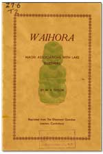 Download Waihora: Maori Associations with Lake Ellesmere. as PDF (4.7 Mb)