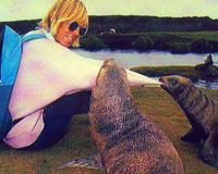 Barbara Todd and seals